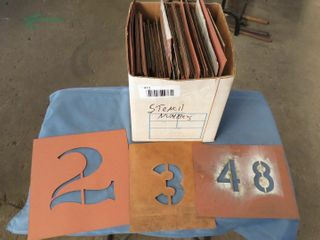 box of stencil numbers