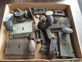 box of metal door handles
