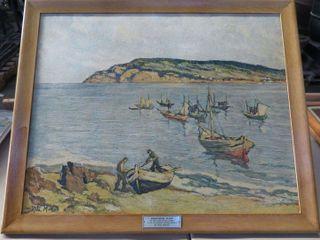 framed art of Bonaventure Island by Rita Mount