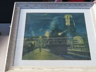 framed NYC lines print   32  long x 26  wide