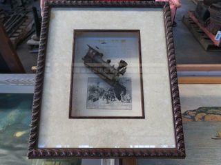 2 framed locomotive pieces