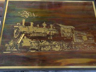 locomotive art piece