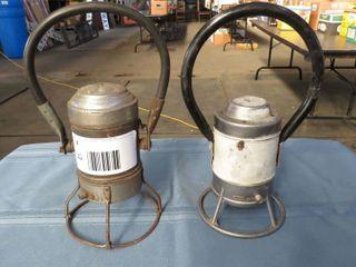 2 x railroad hand lanterns