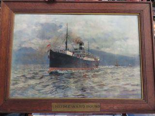 early  Homeward Bound  print of the Cassandra ship