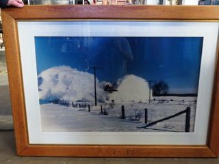 large wooden framed CPR snowplow print