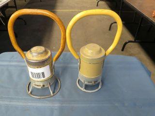 2 railroad hand lanterns