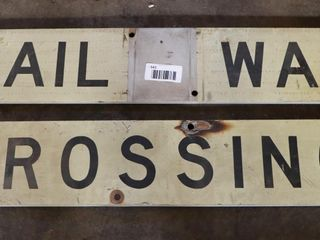 aluminum railway crossing signs