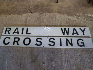 2 reflective NOS aluminum crossing signs