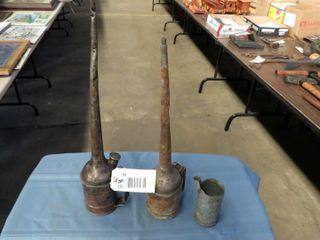 2 oilers  galvanized pour