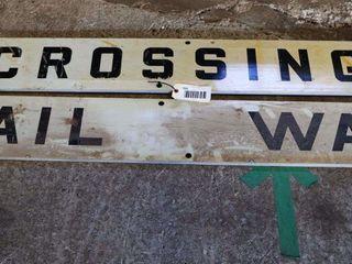 aluminum railway crossing sign