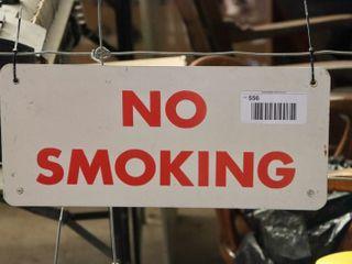 single sided aluminum  No Smoking  sign
