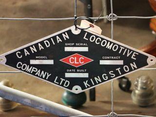 aluminum  Canadian locomotive Co  sign