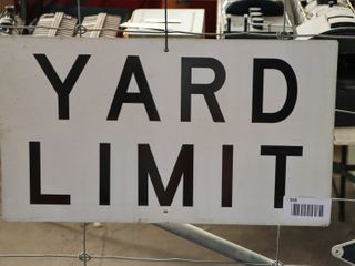 single sided aluminum  Yard limit  sign