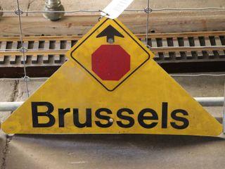 aluminum  Brussels  stop sign