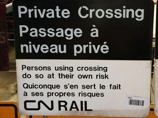 single sided aluminum  CN Rail  sign