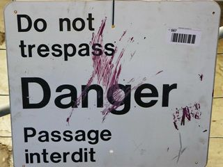 single sided aluminum  Do Not Trespass  sign