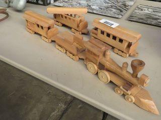 wooden child s train set