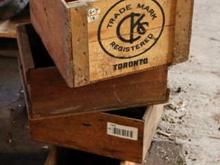 variety fo 4 wooden boxes