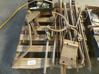 pallet lot of iron hand tools