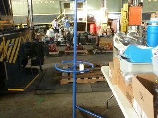 blue metal turning rack