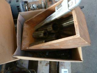 pallet lot of misc  railroad parts   pieces
