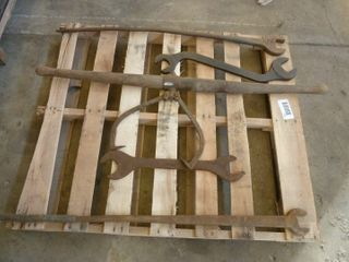 5 railroad hand tools  all marked