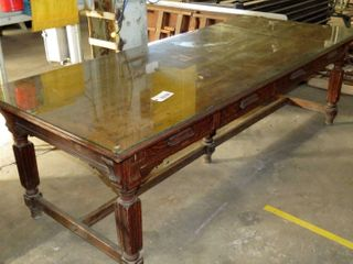 beautiful large double sided wooden board table