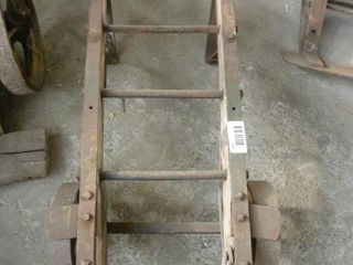 wooden baggage cart