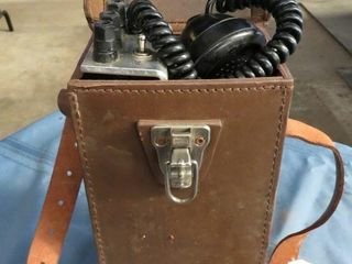 mobile phone in leather case