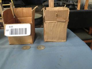 2 boxes of number tags   1 box of railroad