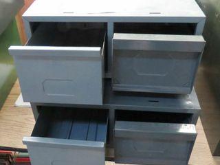 2 metal file card drawers