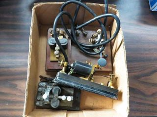 box of telegraph keys