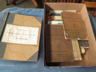 box of misc  railroad books  manuals