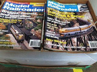 box of  Model Railroader  magazines
