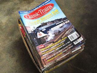 box of  Classic Trains  magazines