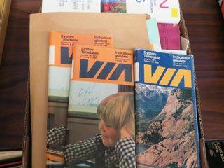 box of VIA correspondance   ephemera