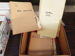 box of misc  railroad ephemera