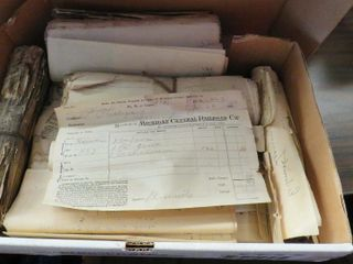 box of MCRR invoices   receipts