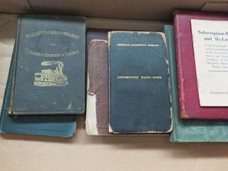 box of early railroad manuals