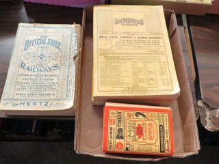 box of railroad registries