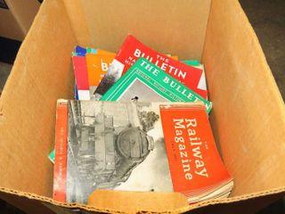box of railroad magazines