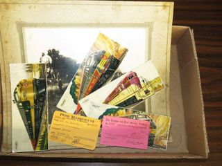 box of misc  railroad images   cards