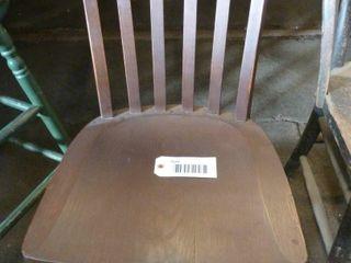 short wooden swivel chair
