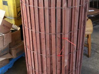 roll of wooden fencing