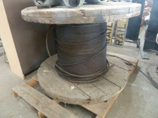 large spool of heavy gauge wire