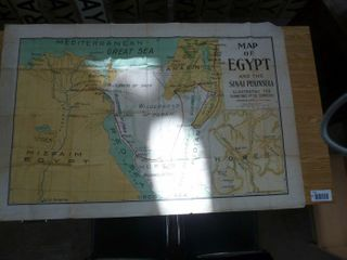 early cloth map of Egypt