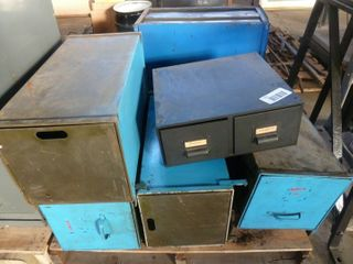 7 metal document boxes