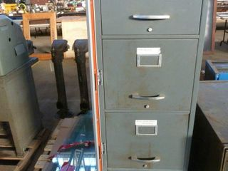 4 drawer filing cabinet   pile of cut glass