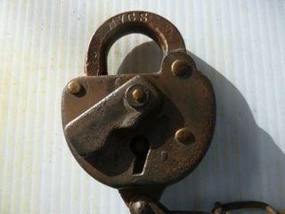 railroad lock marked NYCS