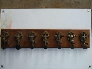 7 telegraph keys mounted on board